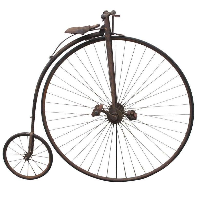 High Wheel Bicycle On Metal Base At 1stdibs