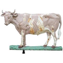 Cast Iron Cow Farm Sign