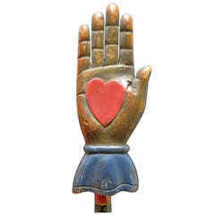 Heart in Hand Carving from an Odd Fellows Lodge
