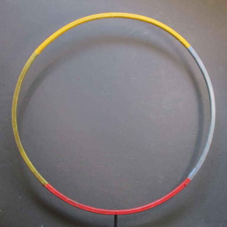 Child's Painted Wood Hoop Toy 3