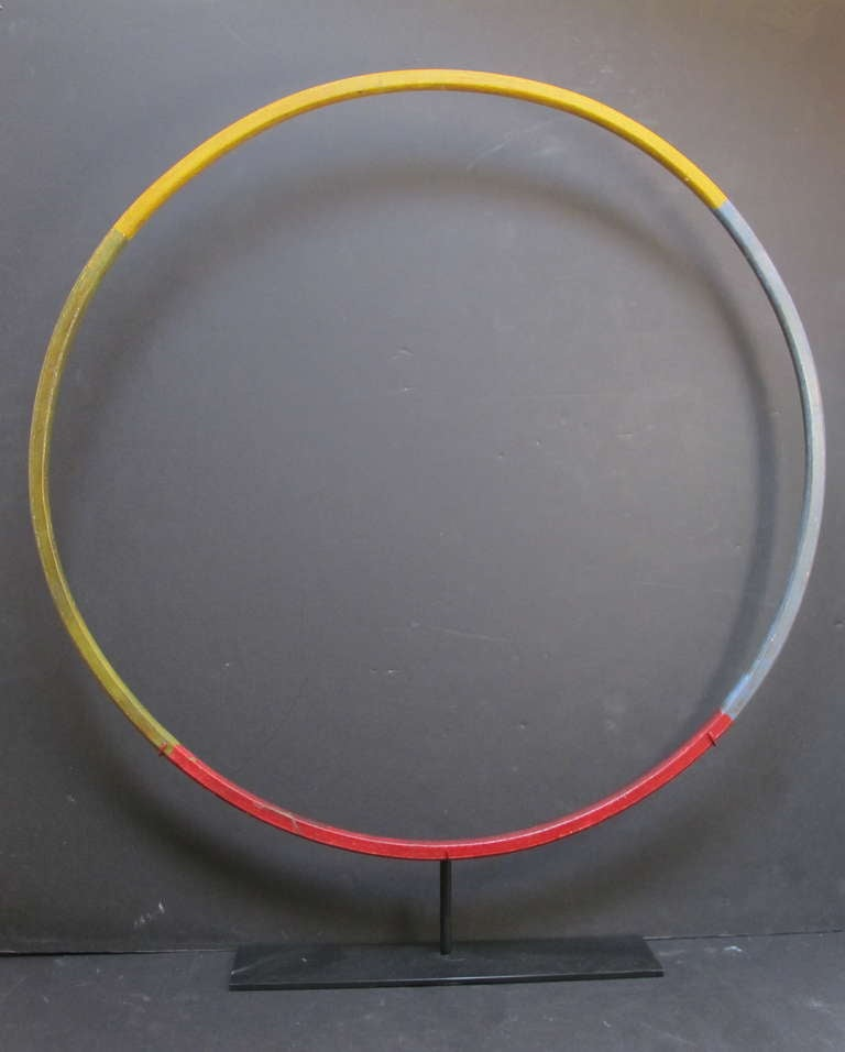Child's Painted Wood Hoop Toy 2
