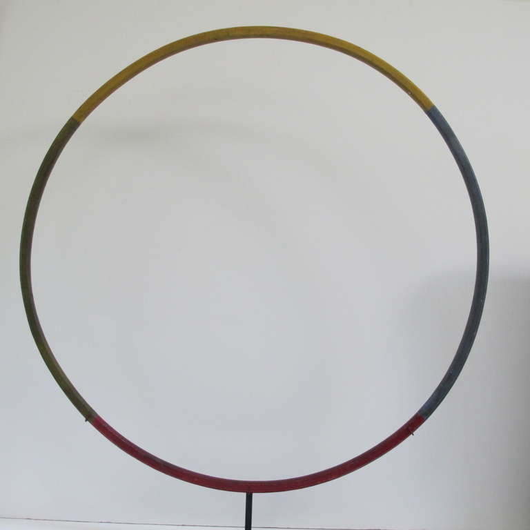 Child's Painted Wood Hoop Toy 4