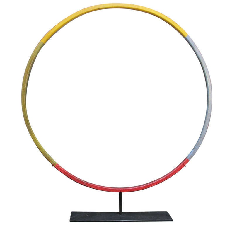 Child's Painted Wood Hoop Toy