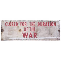 Candy Store Sign from WW II