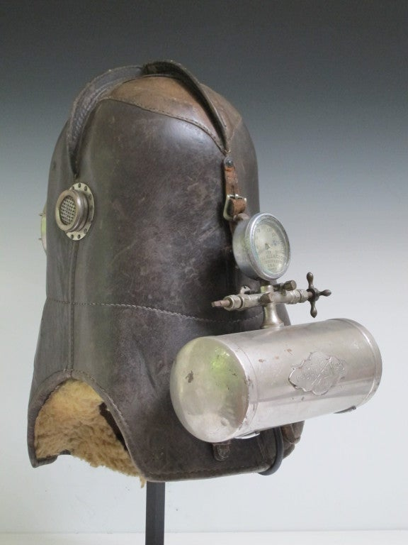 Leather Vajen Bader Smoke Helmet
