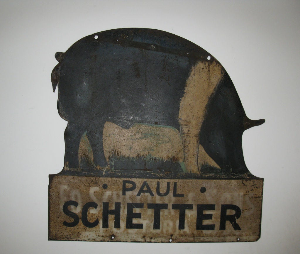 American Pig Farm Sign For Sale