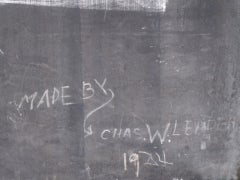 Framed Slate Blackboard With Chalk Tray And Flag On The Back image 4