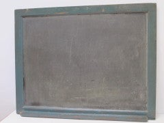 Framed Slate Blackboard With Chalk Tray And Flag On The Back image 5