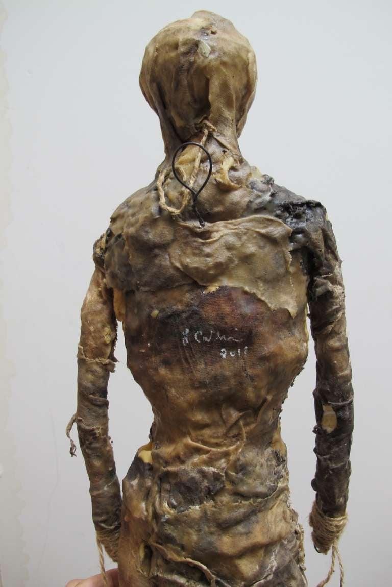 Larry Calkins Sculpture Leathering 1