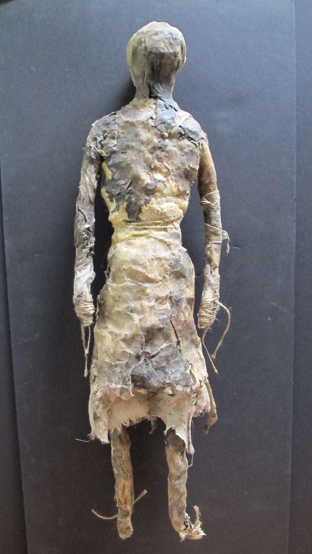 Contemporary Larry Calkins Sculpture Leathering