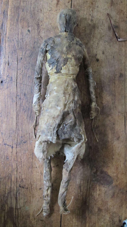 Larry Calkins Sculpture Leathering 2