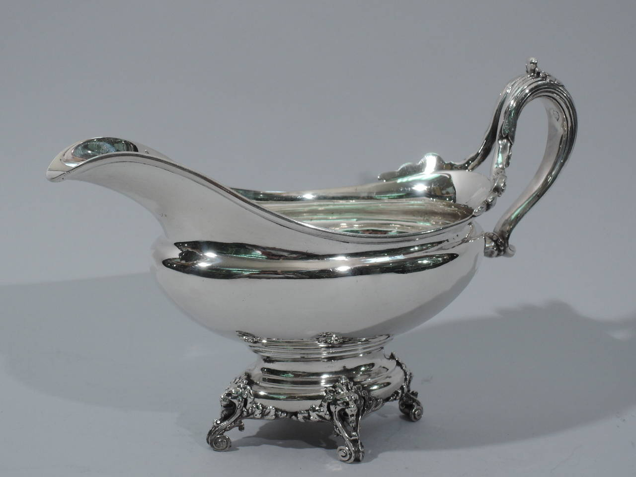 Antique Sterling Silver Gravy Boat By Tiffany And Co At