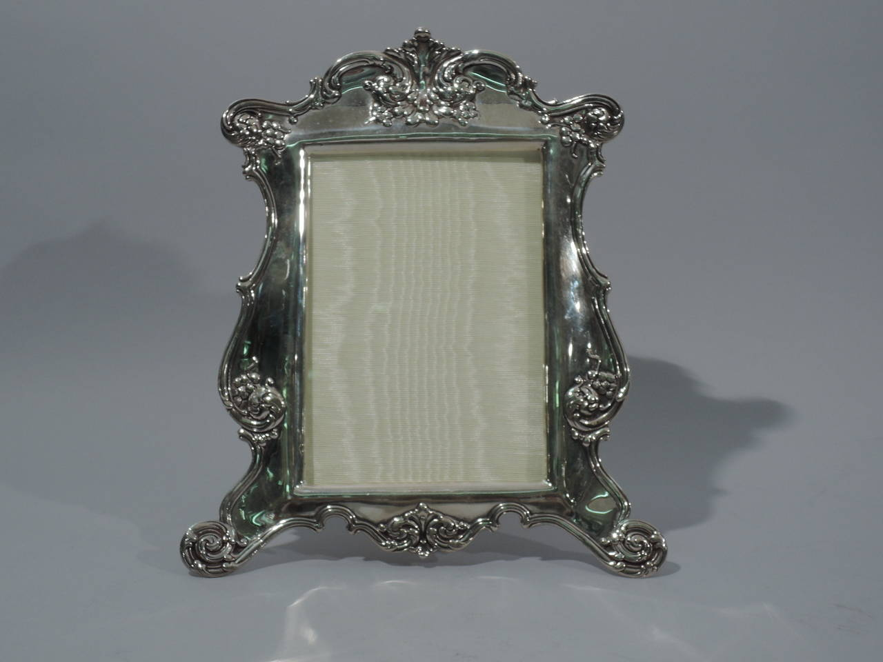 fancy sterling silver picture frame by tiffany and company. Black Bedroom Furniture Sets. Home Design Ideas