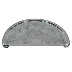 Antique Sterling Silver High Chair Tray with Nostalgic Mother Goose Motif