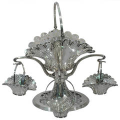 Beautiful Bailey, Banks and Biddle Epergne with Pierced Baskets, circa 1910