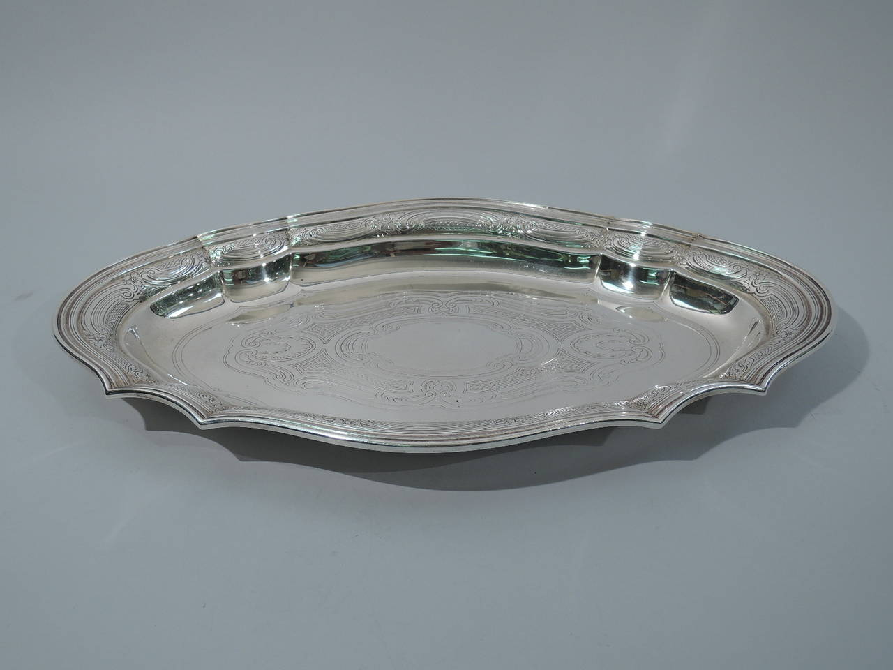 Antique Tiffany Sterling Silver Serving Tray At 1stdibs