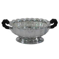 Classical Silver Centerpiece Bowl by German Silversmith Wilhelm Binder