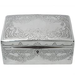 Antique Jewelry Box by Mauser - American Sterling Silver - ca. 1900