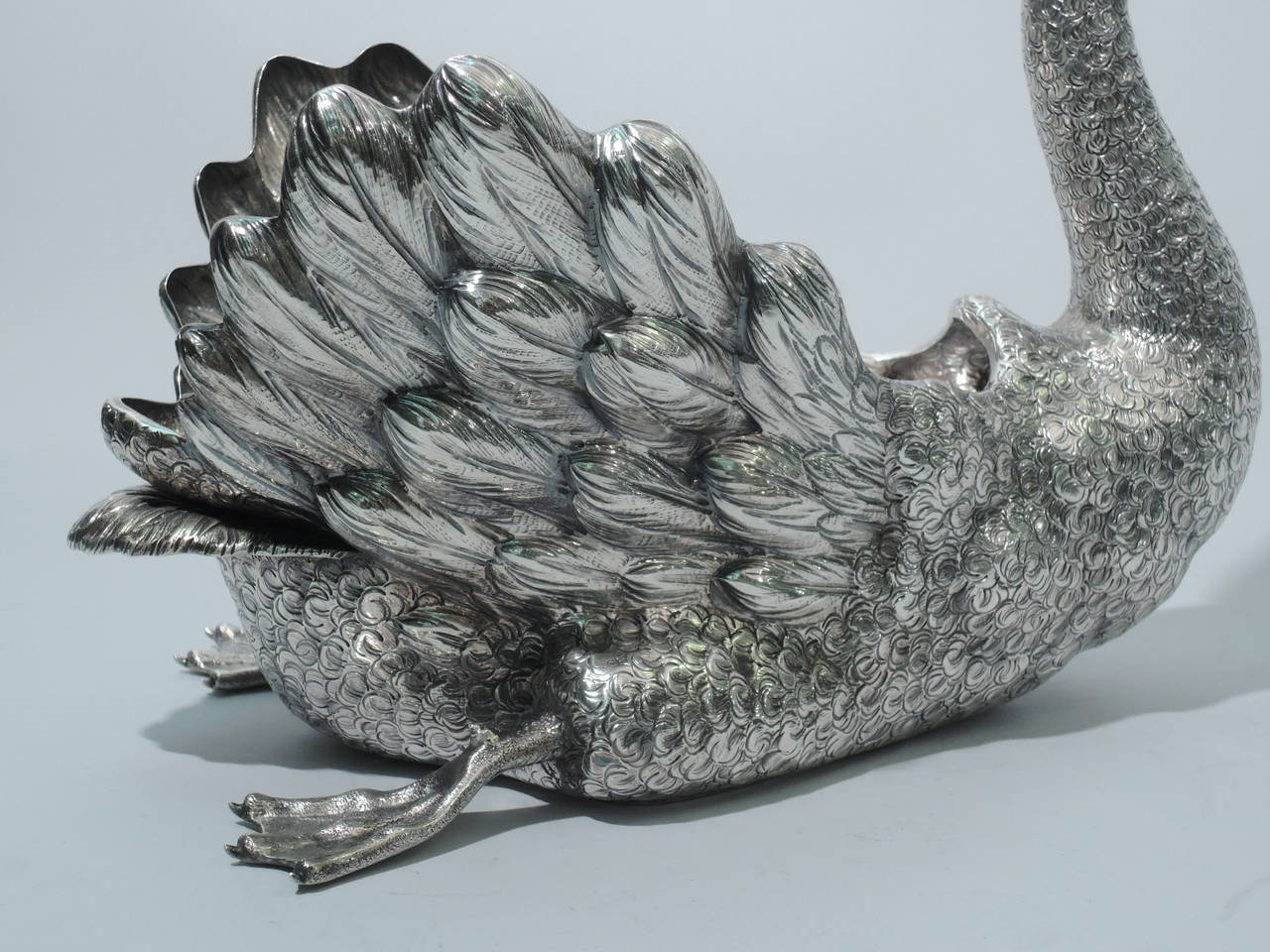 Buccellati Bird, Large Sterling Silver Swan Centerpiece 9