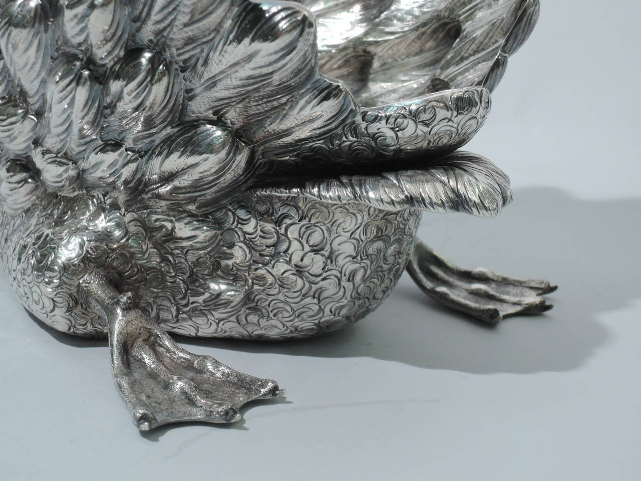 Buccellati Bird, Large Sterling Silver Swan Centerpiece 8
