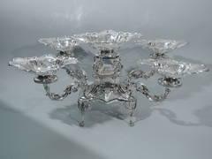 Art Nouveau Epergne - English Sterling Silver 1903  BI833