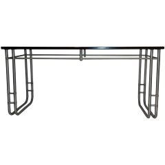 Warren McArthur Console or Work Table Anodized Aluminum circa 1938