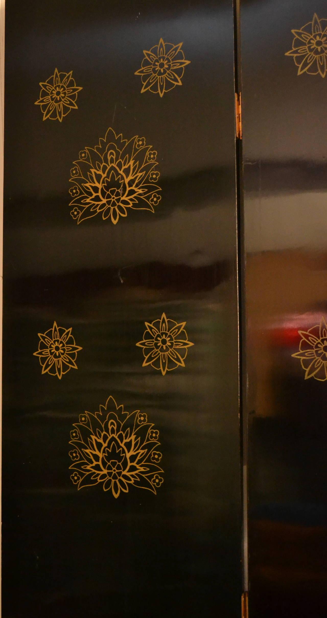 Brass Exquisite Custom Studio Trompe L'oeil Four-Panel Folding Screen For Sale