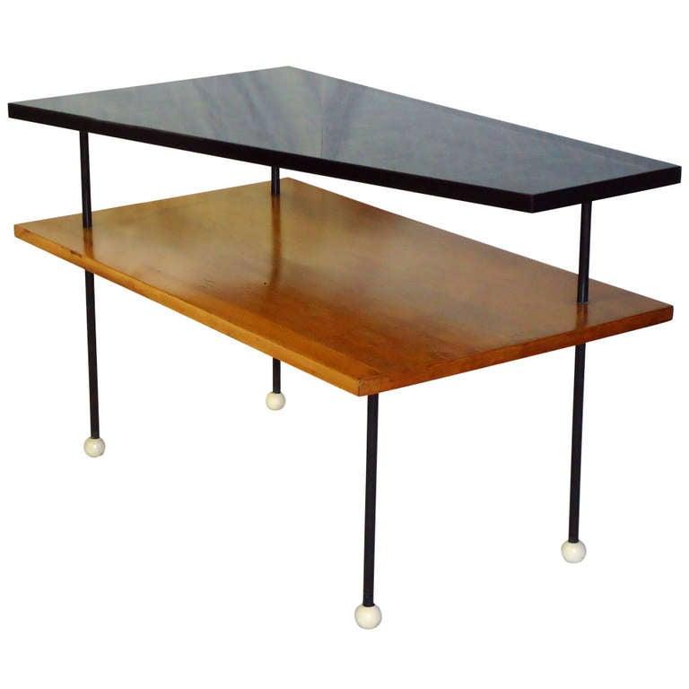 Table Top 1955: Greta Grossman Mid Century Two-Tiered Coffee Table Circa
