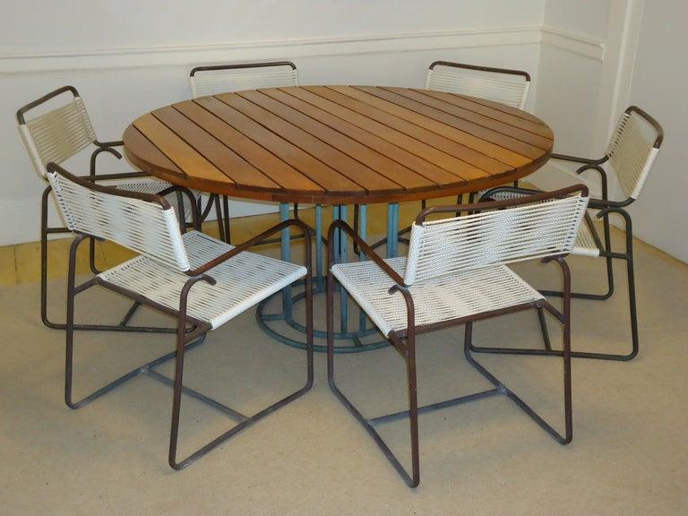 Walter Lamb For Brown Jordan Custom Dining Table Circa 1960 Image 6