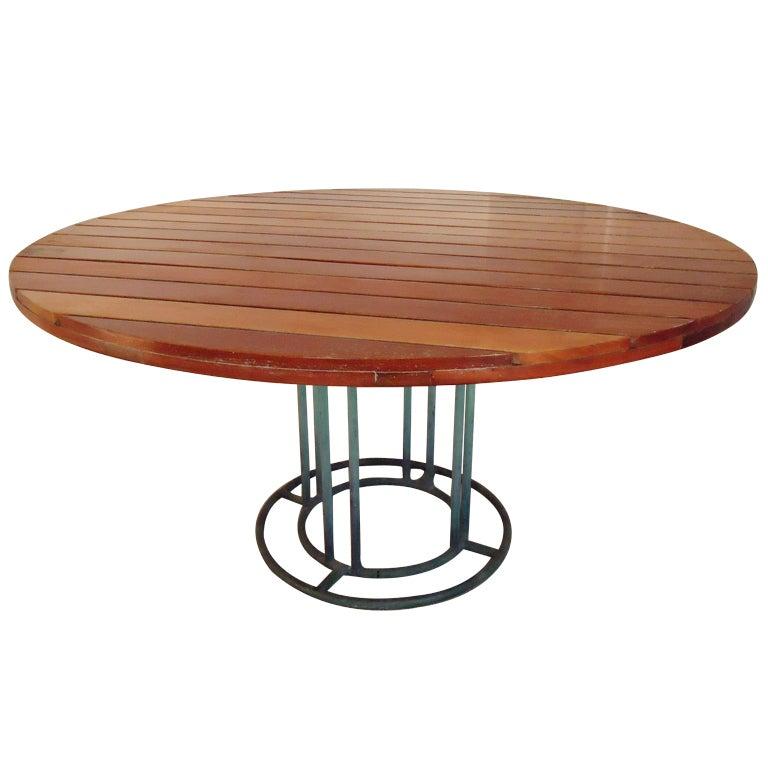 Walter Lamb For Brown Jordan Custom Dining Table Circa 1960 For Sale