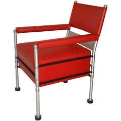 Historic Warren McArthur Lounge Chair Steel and Aluminum Tubing, circa 1931