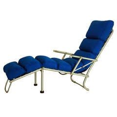 Exceptional Warren McArthur Prototype Folding Chaise, circa 1935