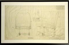 Warren McArthur Corp. Aircraft Co-Pilot Proposal Drawing, 1946