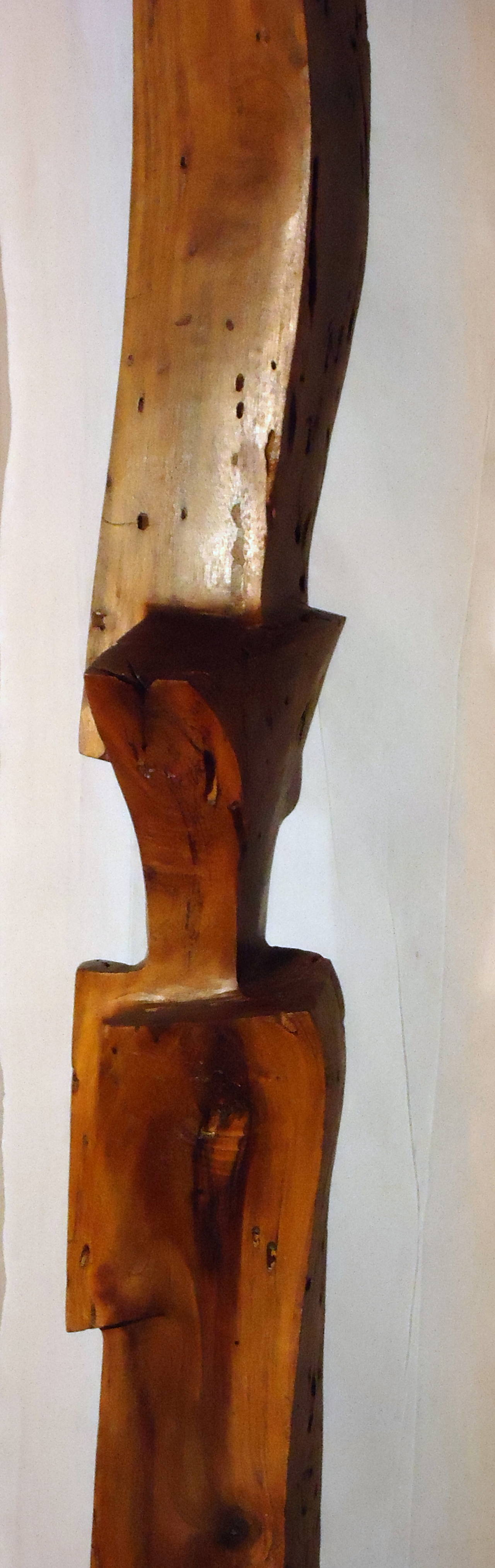 Hand-Carved Studio Mesquite Stele in the Style of J. B. Blunk, circa 1970 For Sale 2
