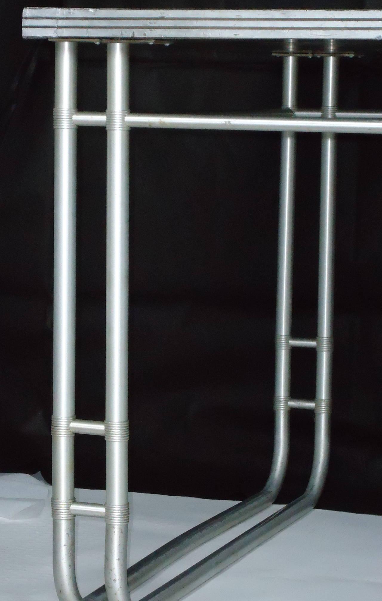 Aluminum Warren McArthur Chrysler Showroom Conference Table, circa 1934 For Sale