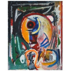 Painting D K Parrot Chinese Characters 1993