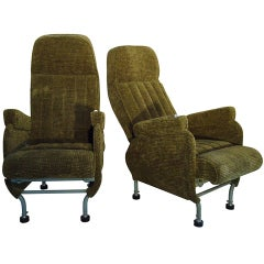 Pair of Warren McArthur Corporation Aircraft Passenger Seats, circa 1946