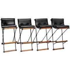 Set of 4 Cleo Baldon Low Back Barstools for Terra c.1970