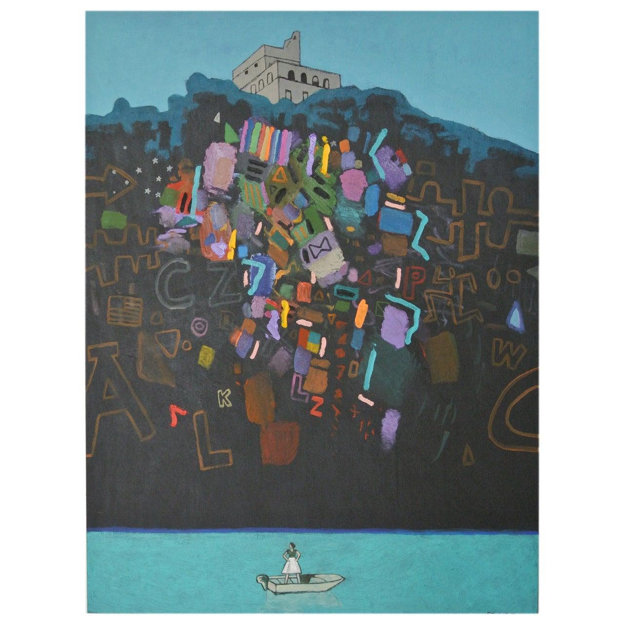 """James Strombotne Painting """"The Castle"""""""
