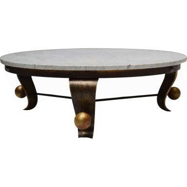 arturo pani carrara marble top cocktail table. Black Bedroom Furniture Sets. Home Design Ideas