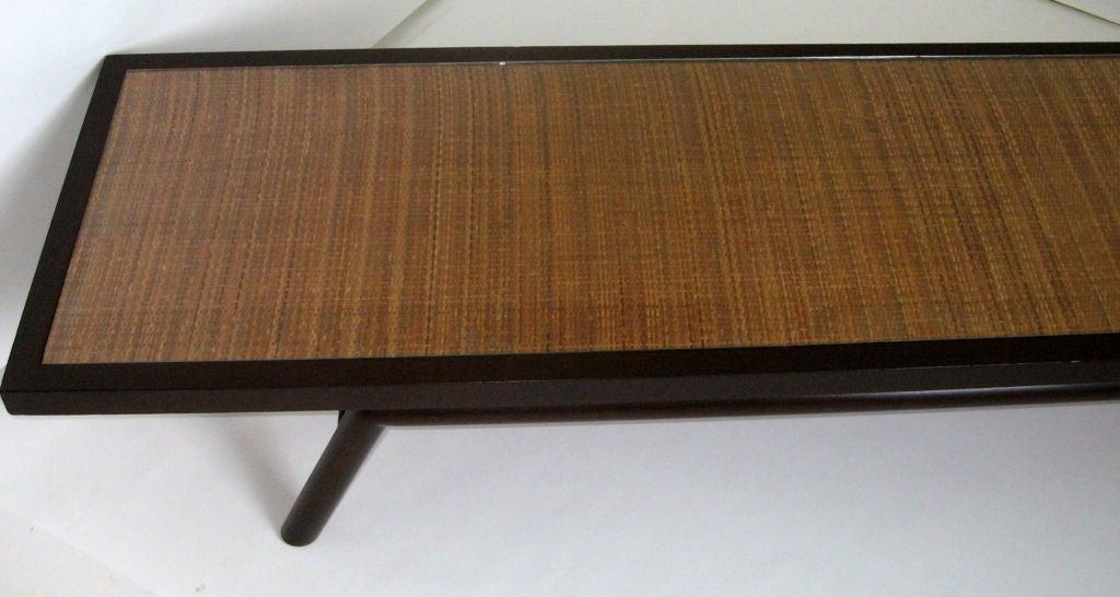 Custom Ordered T. H. Robsjohn-Gibbings Caned Cocktail Table, 1954 For Sale 1