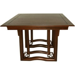 Dining Table Oriental Style Walnut Stratford House, 1953