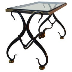 Arturo Pani Iron and Bronze Cocktail Table