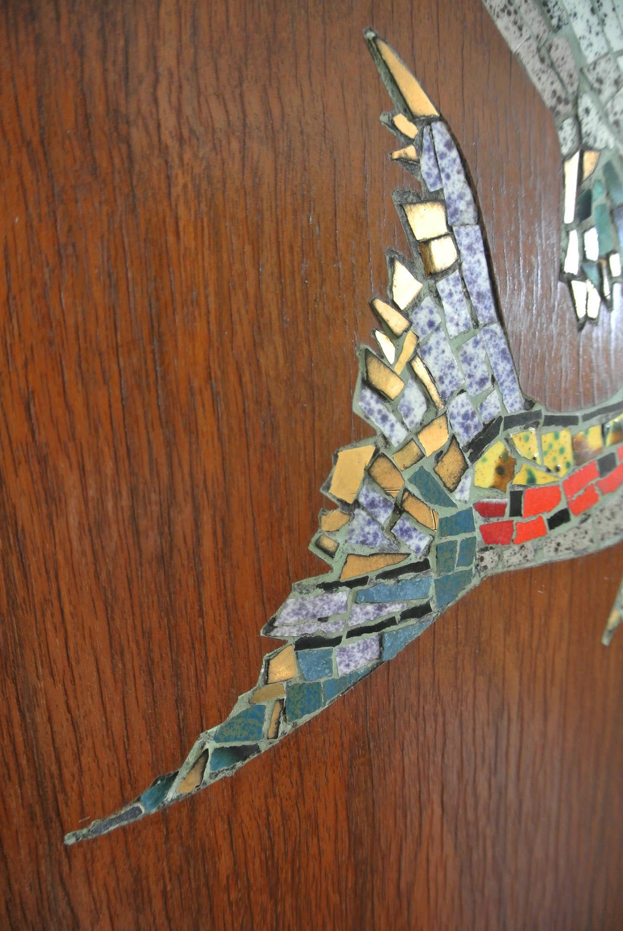 Mosaic Trout Wall Clock, 1967, Californian Mid-Century Studio Crafted Signed For Sale 2