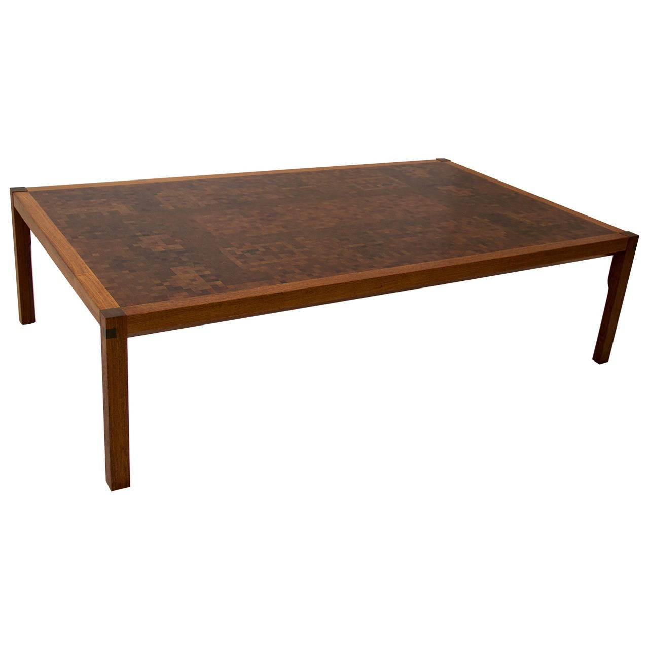 Rare Danish Handcrafted Tranekaer Studio Teak Framed Coffee Table Circa 1970 For Sale At 1stdibs