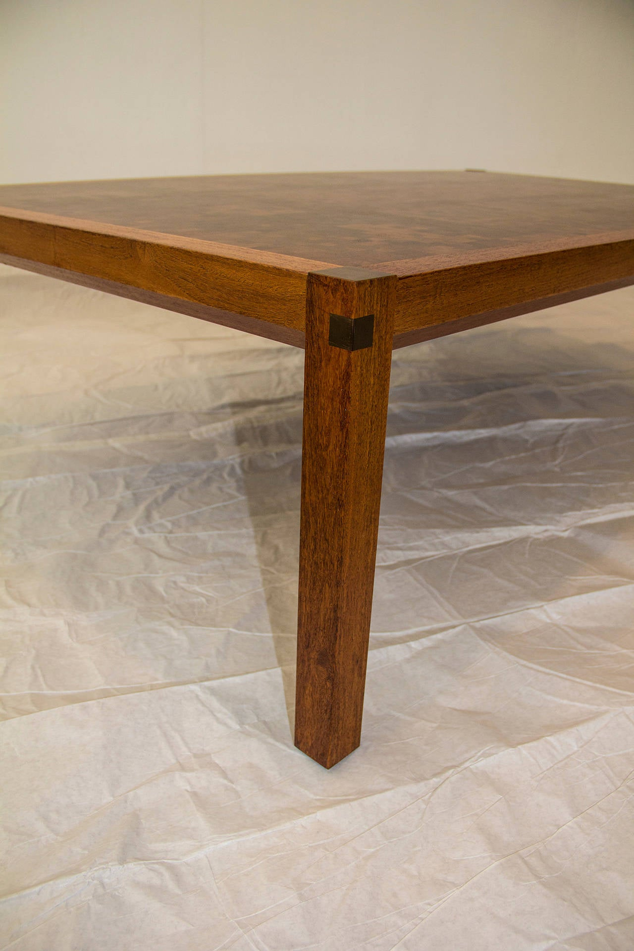 Danish  Tranekaer Studio Denmark Handcrafted Mosaic Exotic Woods Coffee Table, 1970s For Sale