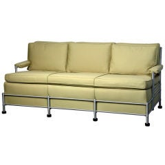 Rare Slat Back 3 Seater Warren McArthur Park Avenue Sofa 1933-1934