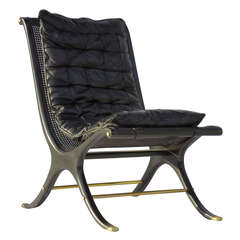 1968 Ebony Caned Lounge Chair Gerald Jerome CA Design 10