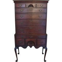 Eldred Wheeler Queen Anne Highboy in Cherry, circa 1980