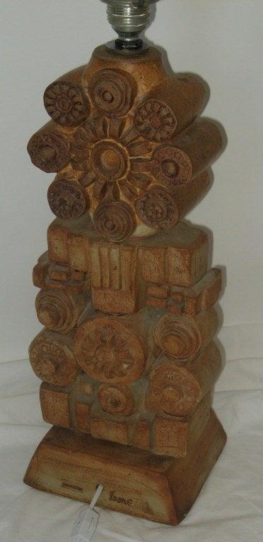 English Bernard Rooke Studio Ceramic Table Lamp, 1978 For Sale